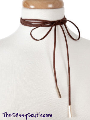 Classy Faux Suede Wrap Choker - Jewelry - The Sassy South Boutique