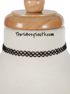 Black Threaded Choker - Jewelry - The Sassy South Boutique