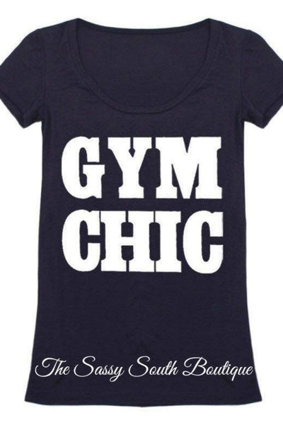 GYM CHIC - Graphic Top - The Sassy South Boutique