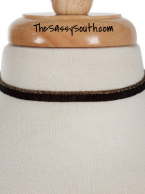 Black Choker with Sparkle Accent Line - Jewelry - The Sassy South Boutique