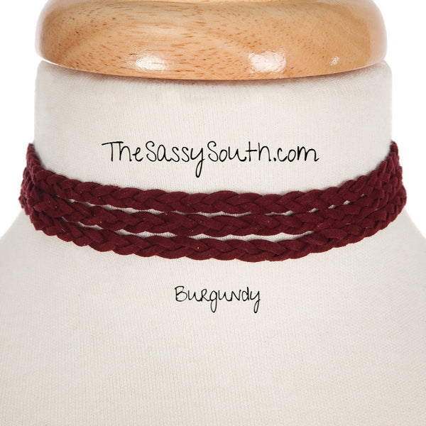 Braided Triple Row Choker - Jewelry - The Sassy South Boutique