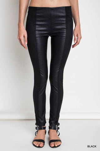 Black Faux Leather Legging Pants - Leggings - The Sassy South Boutique