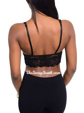 Lace Bralette with Adjustable Straps - Undergarments - The Sassy South Boutique