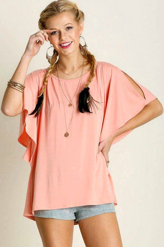 Open Shoulder Blouse - Blouse - The Sassy South Boutique