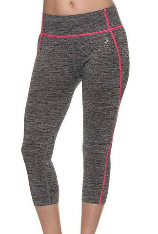 Grey SpaceDye Capri - Active - The Sassy South Boutique