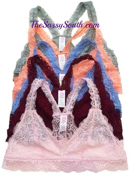 Lace Racerback Bralette - Undergarments - The Sassy South Boutique