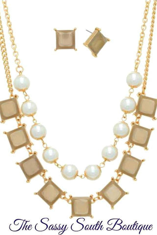 Gold Tone Layer Necklace Set - Jewelry - The Sassy South Boutique