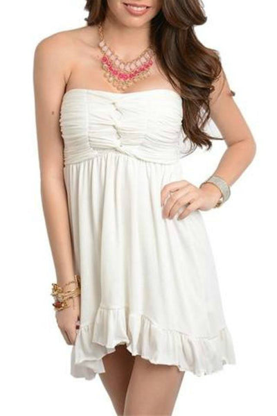 Strapless Babydoll Dress - Dress - The Sassy South Boutique