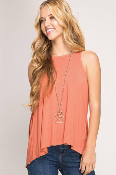 Twisted Tank (Dusty Orange) - Blouse - The Sassy South Boutique