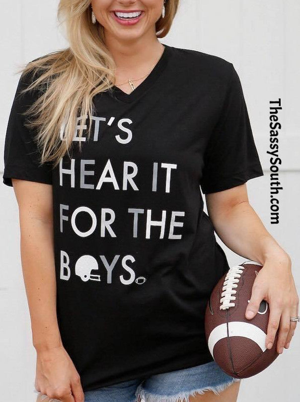 Let's Hear It For The Boys Tee (Black)
