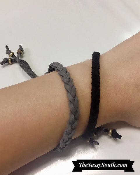 Braided Faux Suede Bracelet - Jewelry - The Sassy South Boutique