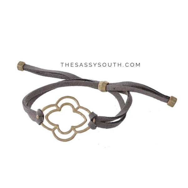 Faux Suede Adjustable Bracelet - Jewelry - The Sassy South Boutique