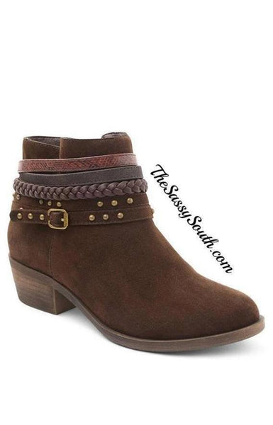 Sassy Chocolate Bootie - Boots - The Sassy South Boutique