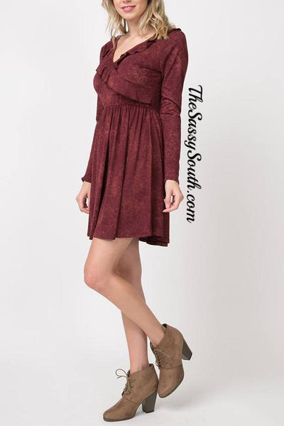 Mineral Washed FitN'Flare Dress - Dress - The Sassy South Boutique