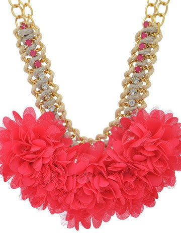 Floral Accent Statement Necklace - Jewelry - The Sassy South Boutique