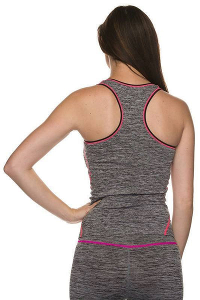 Grey SpaceDye Active Racerback Tank Top - Active - The Sassy South Boutique