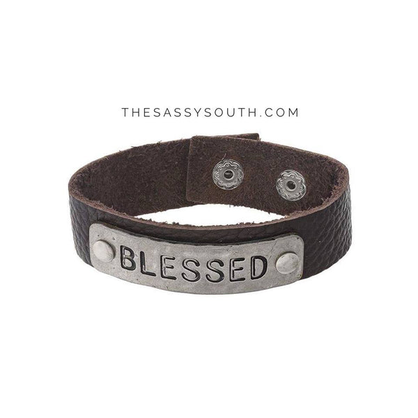 Leather Snap Bracelets - Jewelry - The Sassy South Boutique