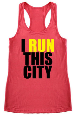 I RUN THIS CITY Racerback Tank - Graphic Top - The Sassy South Boutique