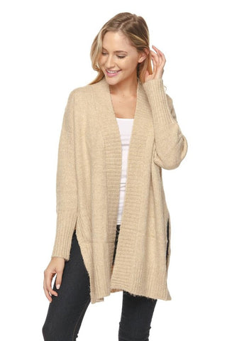 Dolman Sleeves Draped Sweater Cardigan - Cardigan - The Sassy South Boutique