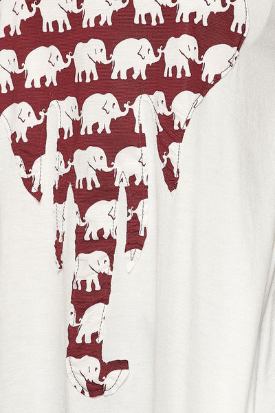 Elephant Print Top - Blouse - The Sassy South Boutique