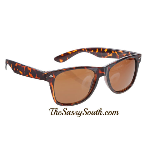 Tortoise Wayfarer Style Sunglasses - Sunglasses - The Sassy South Boutique