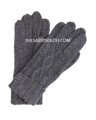 Charcoal Grey Knit Gloves
