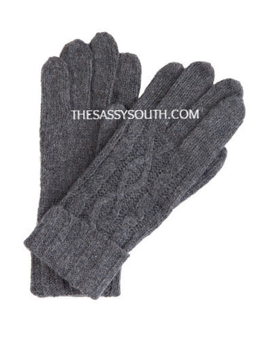 Charcoal Grey Knit Gloves - Gloves - The Sassy South Boutique