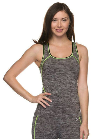 Grey SpaceDye Active Racerback Tank Top