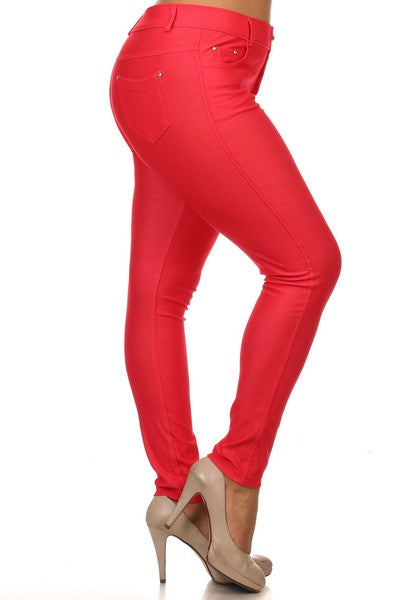 Curvy Sassy Color Jegging (Sizes: XL-XXL-XXXL)