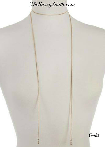 Gold Wrap Choker Necklace - Jewelry - The Sassy South Boutique