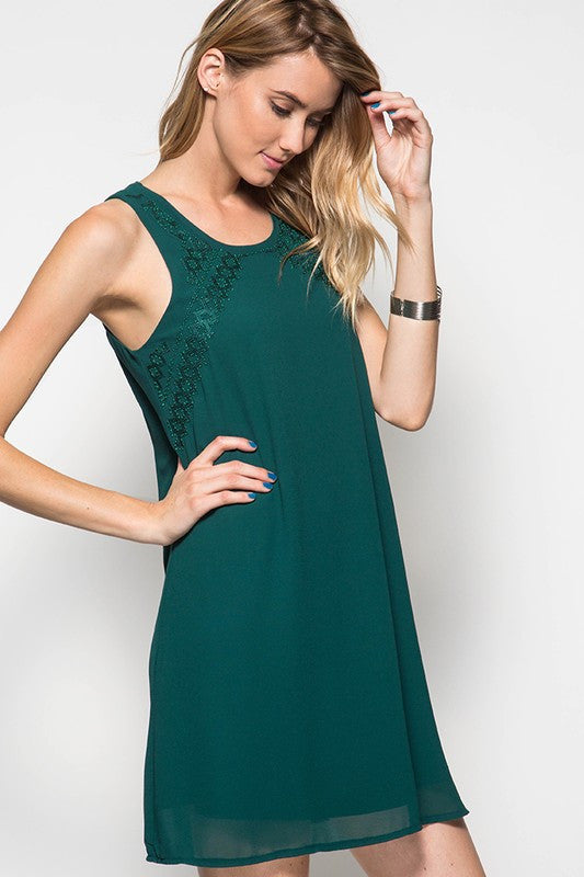 Sea Green Embellished Dress - Dress - The Sassy South Boutique