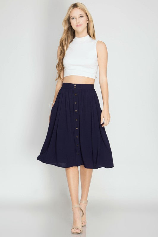 024726e9af ... High Waist Button Down Accent Midi Skirt - Skirt - The Sassy South  Boutique