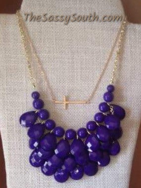 Droplet Necklace (Purple) - Jewelry - The Sassy South Boutique