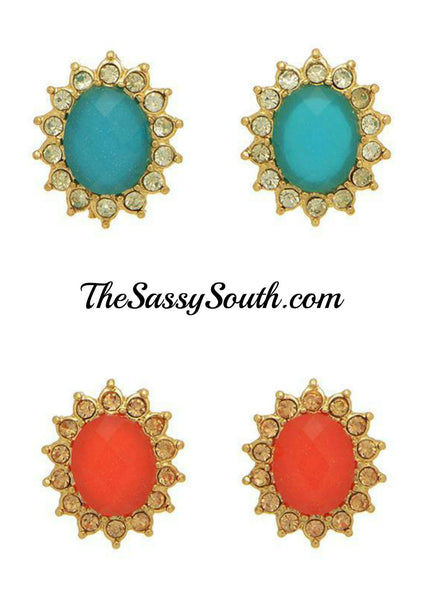 Color Burst Stud Earrings - Jewelry - The Sassy South Boutique