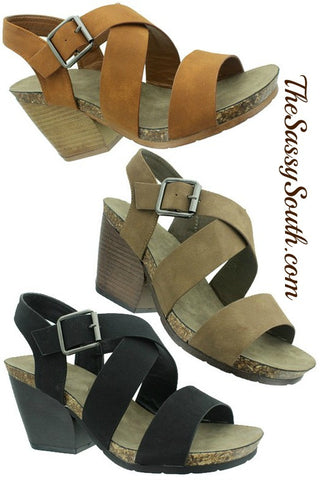 Sassy Stack Heel Sandal - Sandals - The Sassy South Boutique