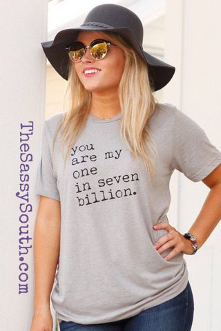 One in Seven Billion Tee