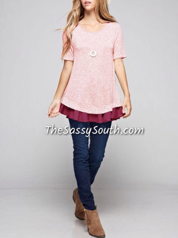 Bottom Ruffle Blouse - Blouse - The Sassy South Boutique