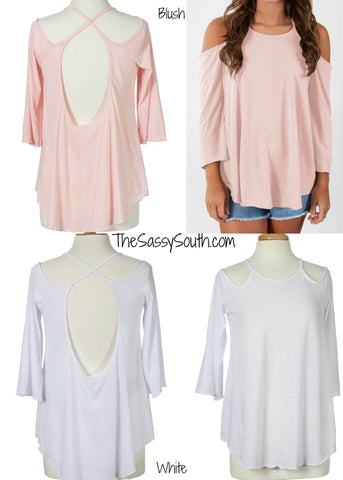 Relaxed Back Criss-Cross Blouse - Blouse - The Sassy South Boutique