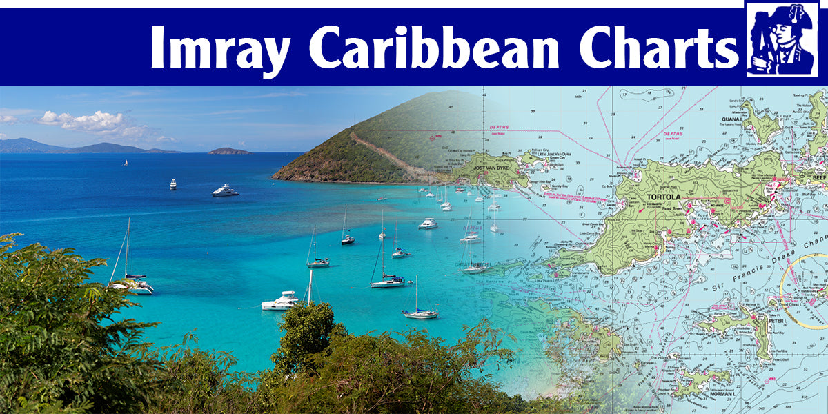 Imray Recreational Charts for Caribbean Waters, including the Virgin Islands, Windward Islands, and Leeward Islands