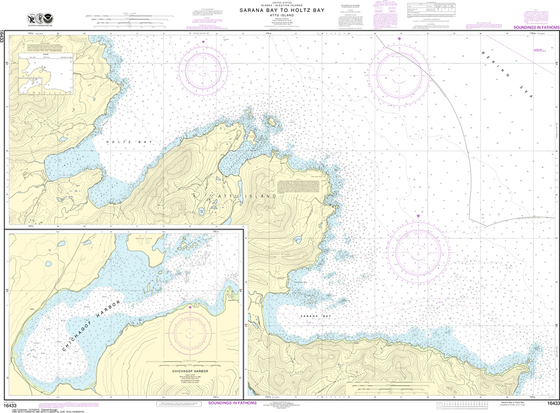 NOAA Chart 16433: Sarana Bay to Holtz Bay, Chichagof Harbor