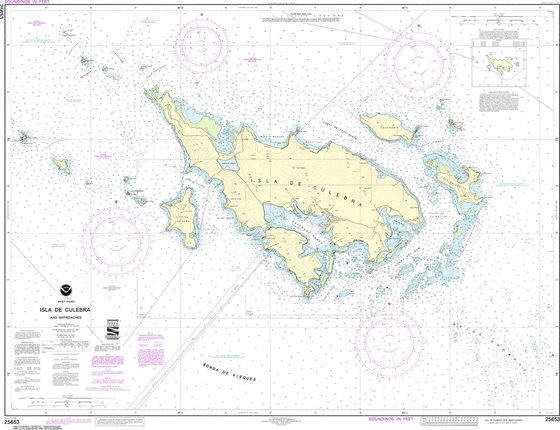 NOAA Chart 25653: Isla de Culebra and Approaches