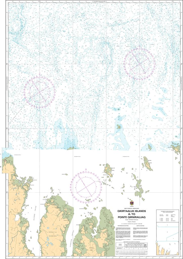 CHS Chart 5375: Qikirtaaluk Islands à/to Point Qirniraujaq