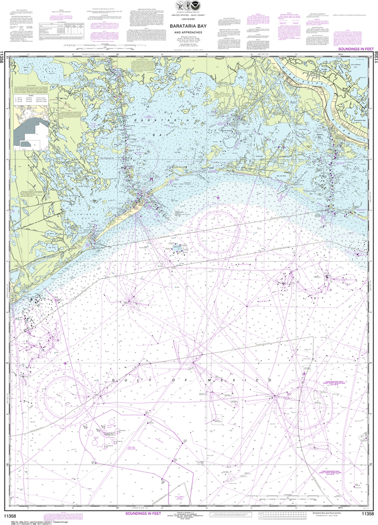 NOAA Chart 11358: Barataria Bay and Approaches