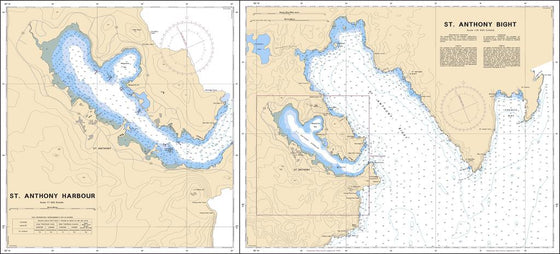 CHS Chart 4514: St. Anthony Bight and Harbour