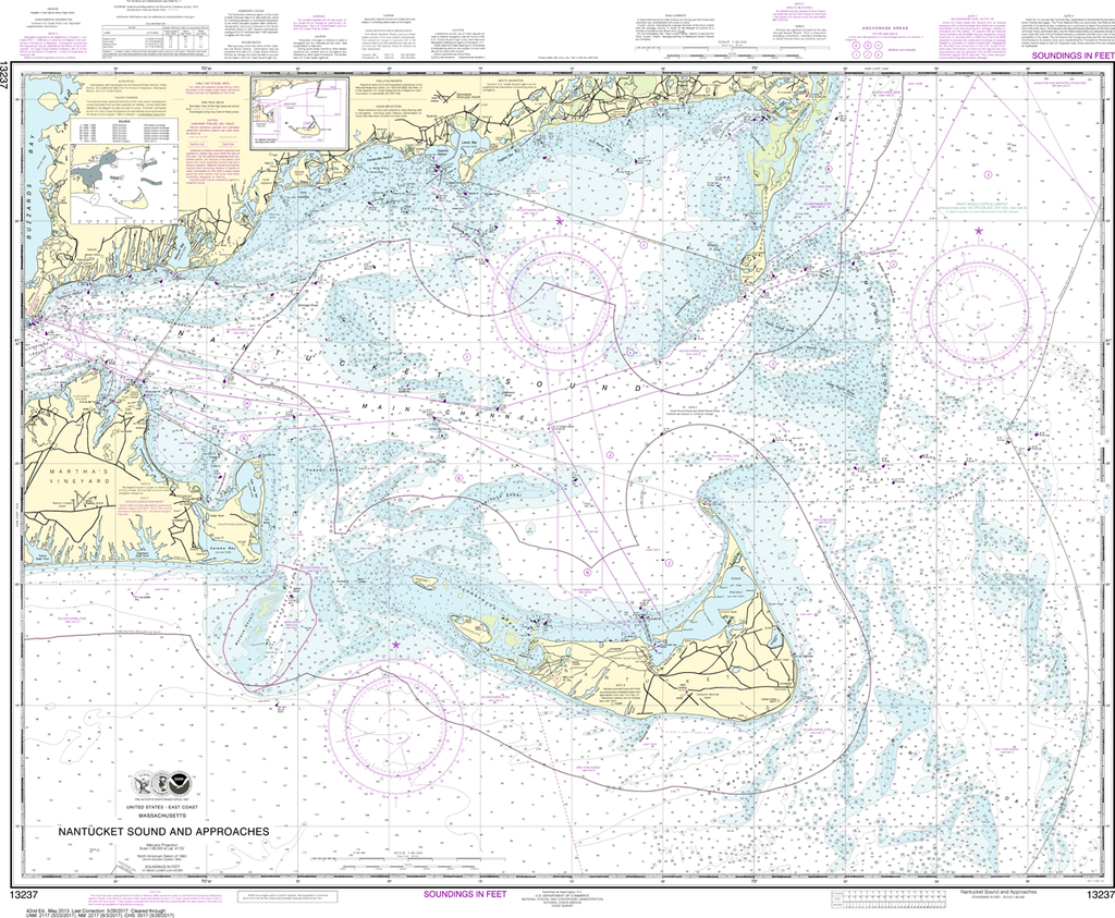 NOAA Chart 13237: Nantucket Sound and Approaches