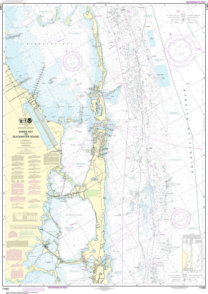 NOAA Chart 11463: Intracoastal Waterway - Sands Key to Blackwater Sound