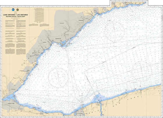 CHS Chart 2077: Lake Ontario/Lac Ontario (Western Portion/Partie Ouest)