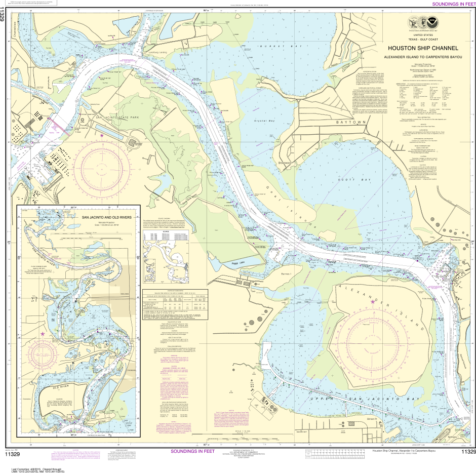 Noaa chart 11329 houston ship channel alexander island to noaa print on demand charts us waters houston ship channel alexander island to sciox Images