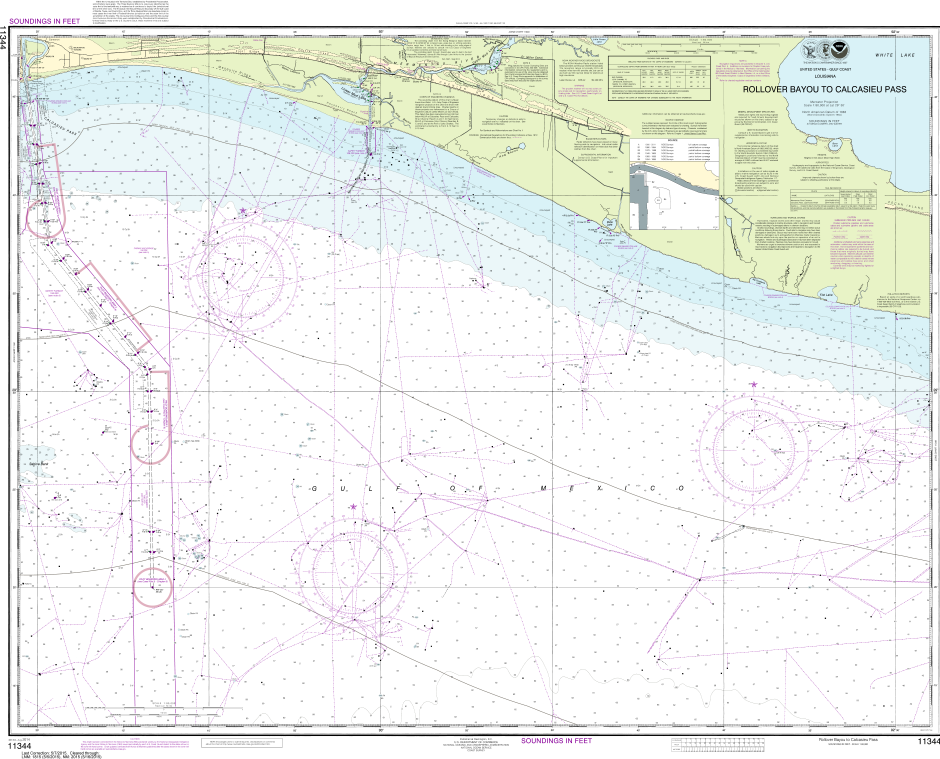 NOAA Print-on-Demand Charts US Waters-Rollover Bayou to Calcasieu Pass-11344