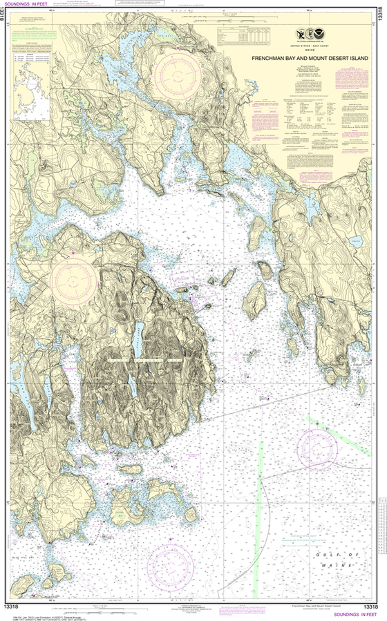 NOAA Chart 13318: Frenchman Bay and Mount Desert lsland